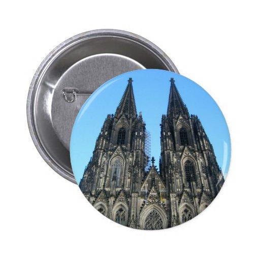 Kernel large saintly hall pinback button