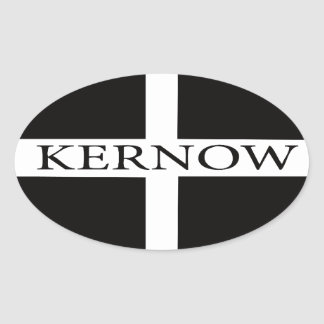 Kernow (Cornwall) flag Oval Sticker