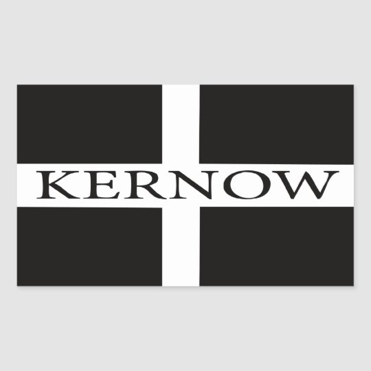Kernow (Cornwall) flag Rectangular Sticker