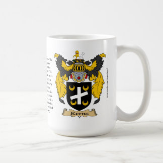 Kerns name, the Origin, the Meaning and the Crest Classic White Coffee Mug