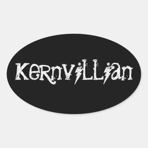 Kernvillian Pegatina De Oval Personalizadas