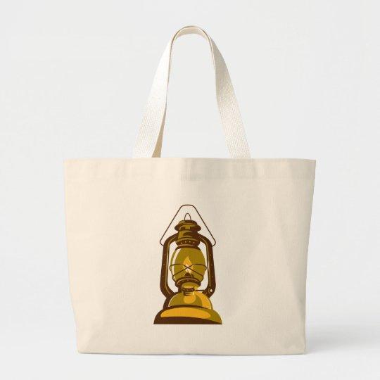 kerosene oil lamp retro large tote bag