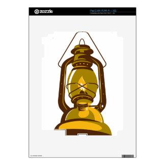 kerosene oil lamp retro skins for the iPad 2