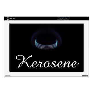"Kerosene stove flame shot 17"" laptop decal"