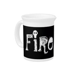 Kerosene stove flame shot beverage pitcher