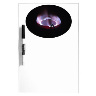 Kerosene stove flame shot with monogram dry erase board