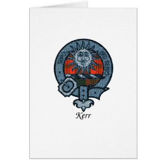 Kerr Clan Crest Greeting Card