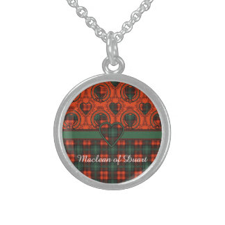 Kerr clan Plaid Scottish tartan Sterling Silver Necklace