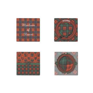 Kerr clan Plaid Scottish tartan Stone Magnet