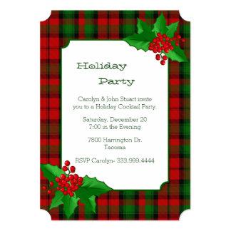 Kerr Clan Tartan Plaid Custom Christmas Party 5x7 Paper Invitation Card