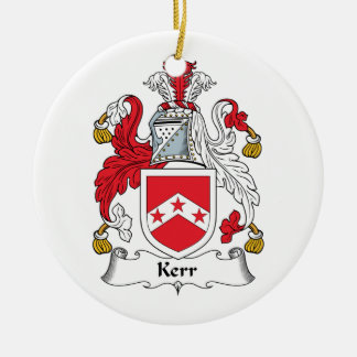 Kerr Family Crest Ceramic Ornament