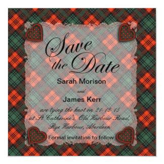 Kerr Scottish clan tartan - Plaid Card