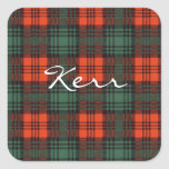 Kerr Scottish Tartan Square Sticker
