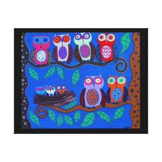Kerri Ambrosino Mexican Folk Art Owls Nest Canvas Print