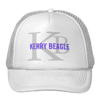 Kerry Beagle Breed Monogram Design Trucker Hat