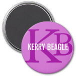 Kerry Beagle Breed Monogram Design Magnet