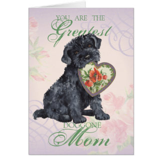 Kerry Blue Heart Mom Greeting Card