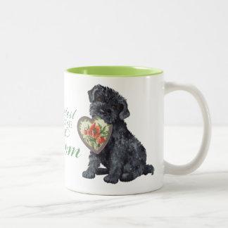 Kerry Blue Heart Mom Two-Tone Coffee Mug