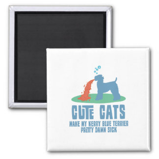Kerry Blue Terrier 2 Inch Square Magnet