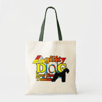 Kerry_Blue_Terrier_Agility Tote Bag