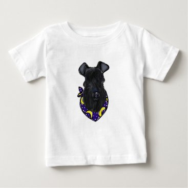 Halloween Themed Kerry Blue Terrier Baby T-Shirt