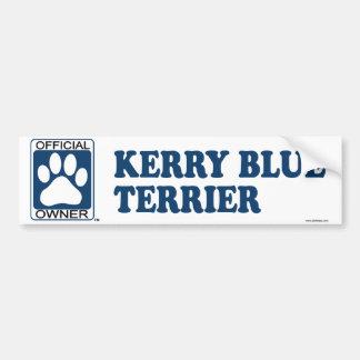 Kerry Blue Terrier Blue Bumper Sticker