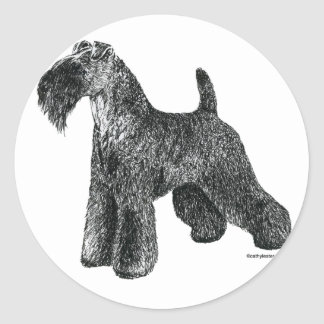 Kerry Blue Terrier Classic Round Sticker