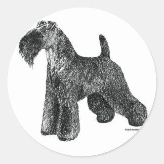 Kerry Blue Terrier Classic Round Sticker