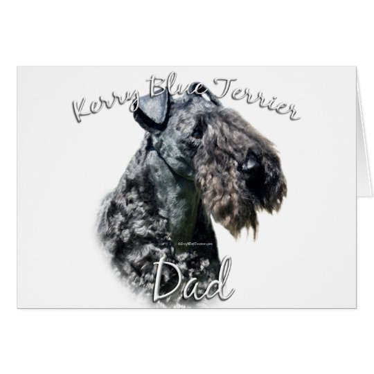 Kerry Blue Terrier Dad 2 Card