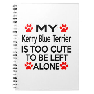 Kerry Blue Terrier Designs Notebook