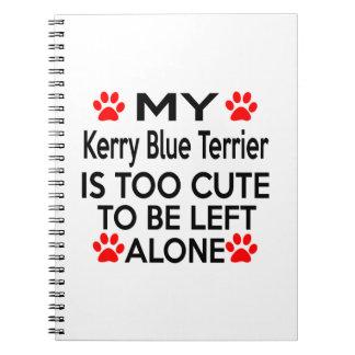 Kerry Blue Terrier Designs Spiral Note Book