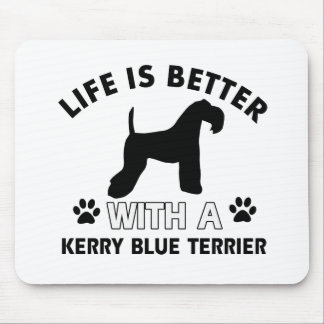 Kerry Blue Terrier Dog breed designs Mouse Pad