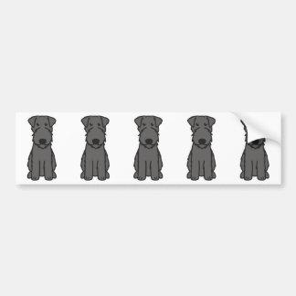 Kerry Blue Terrier Dog Cartoon Bumper Sticker