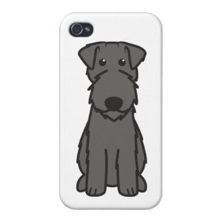 Kerry Blue Terrier Dog Cartoon iPhone 4/4S Covers