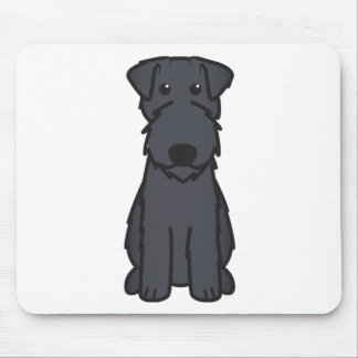 Kerry Blue Terrier Dog Cartoon Mouse Pad