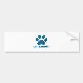 KERRY BLUE TERRIER DOG DESIGNS BUMPER STICKER