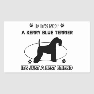 KERRY BLUE TERRIER dog designs Rectangular Sticker