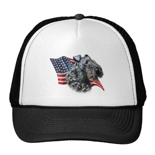 Kerry Blue Terrier Flag Trucker Hat
