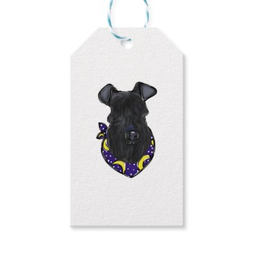 Halloween Themed Kerry Blue Terrier Gift Tags