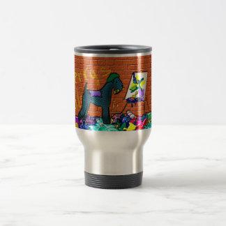 KERRY BLUE TERRIER GRAFFITI ARTIST Larger Mug