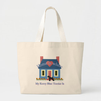 Kerry Blue Terrier Home Is Large Tote Bag