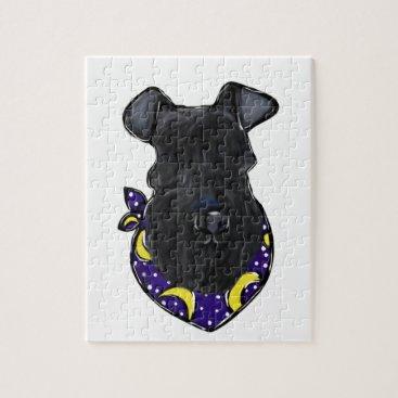 Halloween Themed Kerry Blue Terrier Jigsaw Puzzle