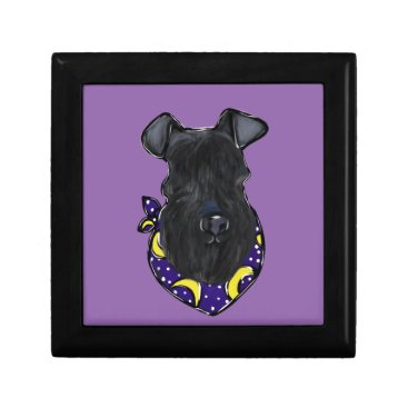 Halloween Themed Kerry Blue Terrier Keepsake Box
