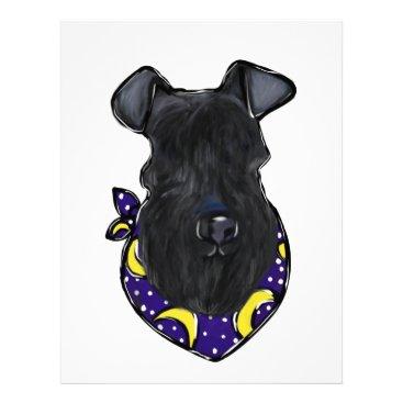 Halloween Themed Kerry Blue Terrier Letterhead