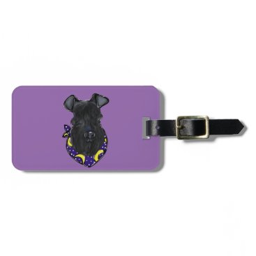 Halloween Themed Kerry Blue Terrier Luggage Tag
