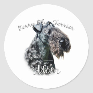 Kerry Blue Terrier Mom 2 Classic Round Sticker