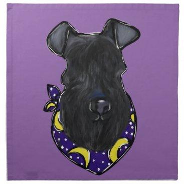 Halloween Themed Kerry Blue Terrier Napkin