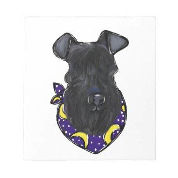 Halloween Themed Kerry Blue Terrier Notepad