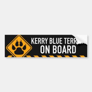 Kerry Blue Terrier On Board Bumper Sticker