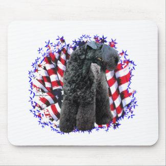 Kerry Blue Terrier Patriot Mouse Pad